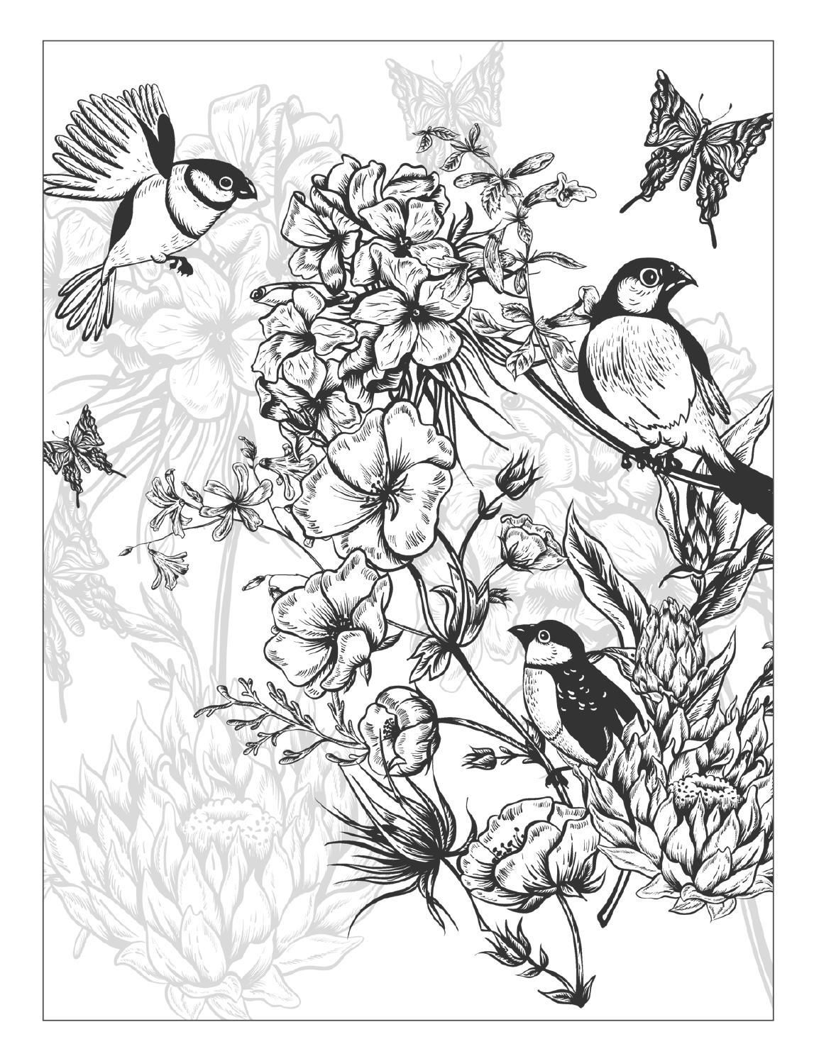 detailed flower coloring pages detailed flowers colouring page by welshpixie on deviantart detailed flower coloring pages