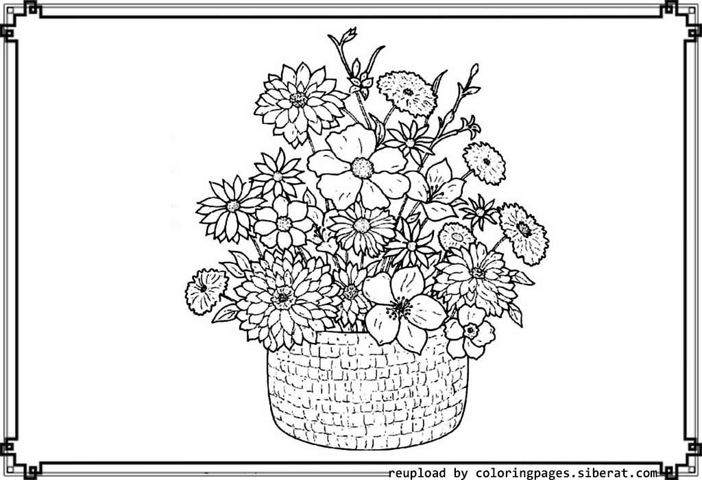 detailed flower coloring pages flower coloring books printable flower coloring pages coloring detailed pages flower