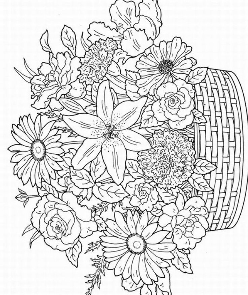detailed flower coloring pages flower coloring pages for adults best coloring pages for detailed flower coloring pages