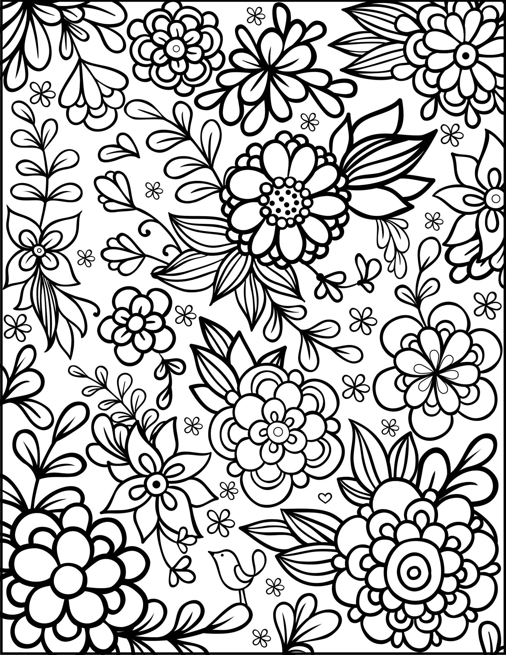 detailed flower coloring pages get this detailed flower coloring pages for adults flower pages coloring detailed