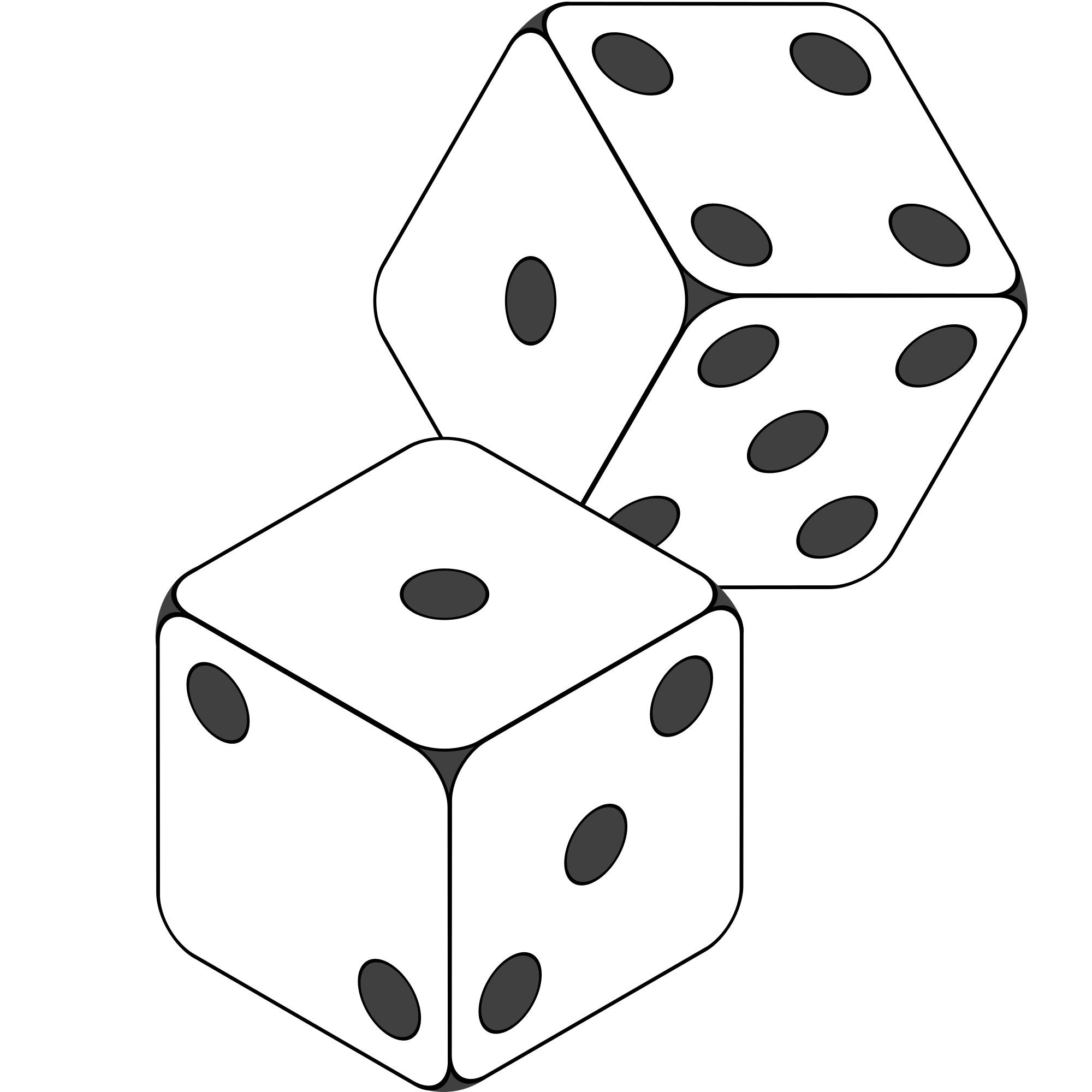 dice to print number 3 dice clipart black and white clipground print dice to