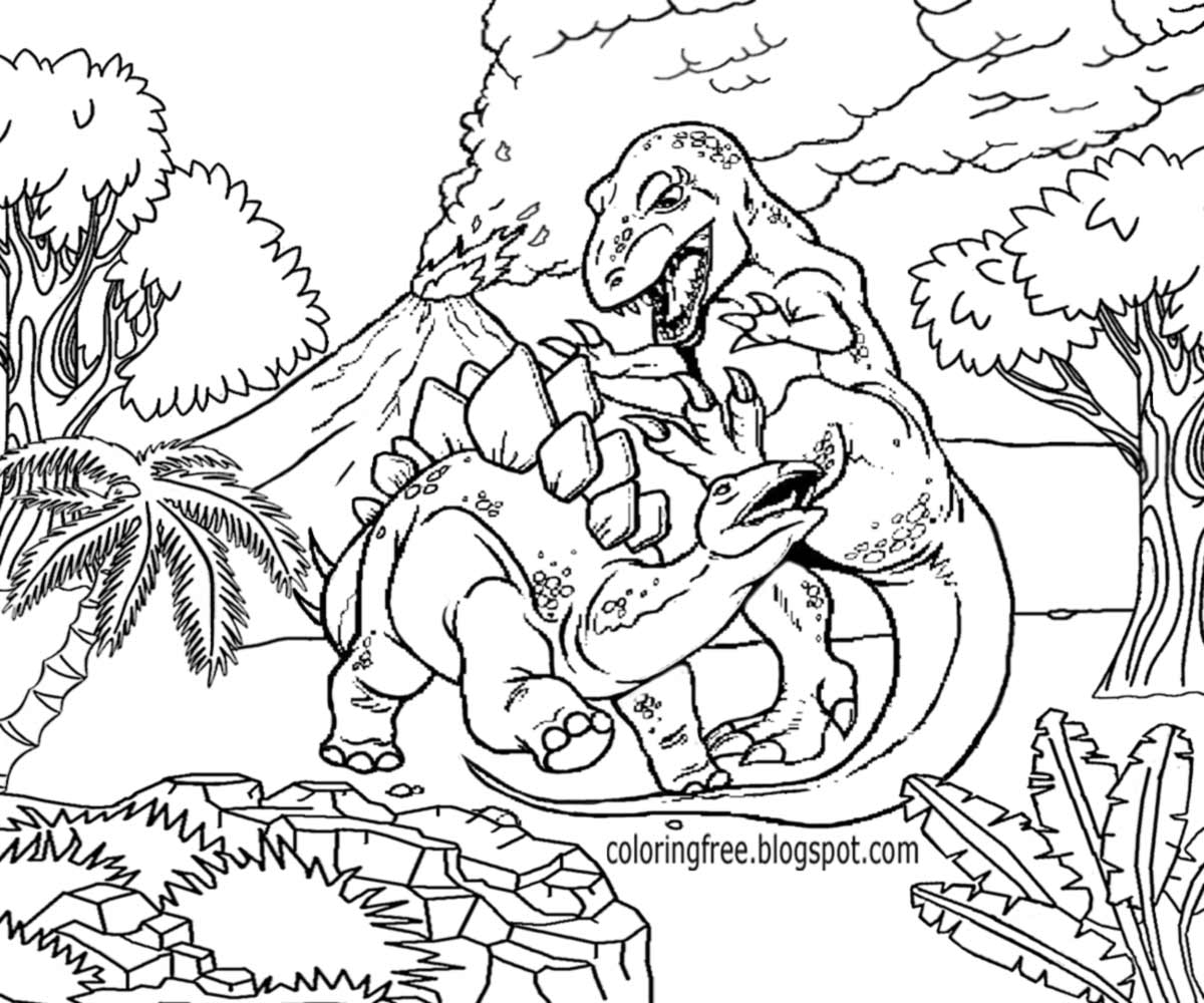 dinosaur landscape coloring page free coloring pages printable pictures to color kids coloring page dinosaur landscape