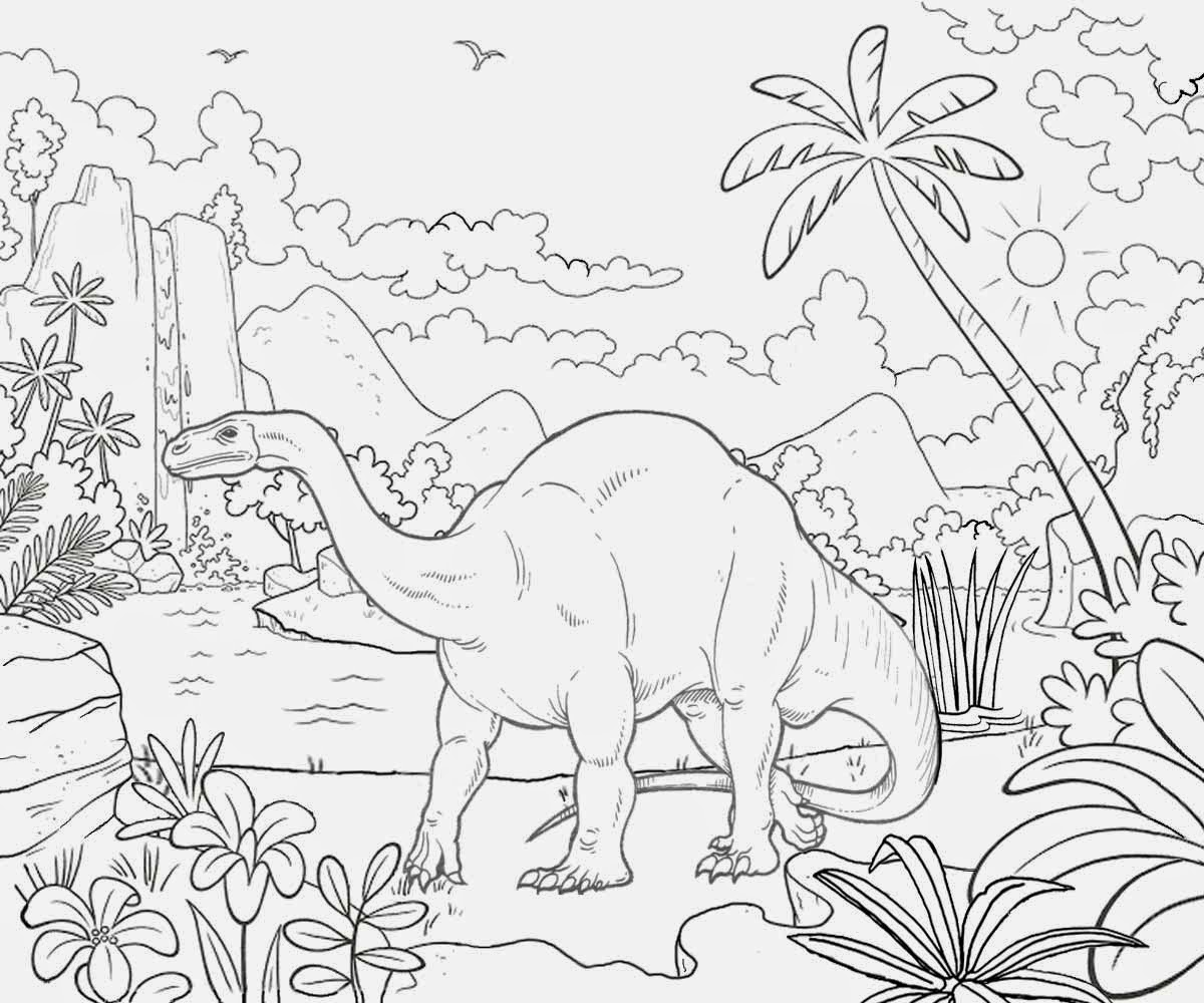 dinosaur landscape coloring page free coloring pages printable pictures to color kids dinosaur landscape page coloring
