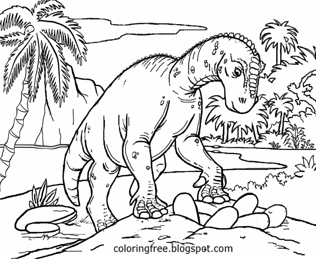 dinosaur landscape coloring page free coloring pages printable pictures to color kids landscape dinosaur coloring page