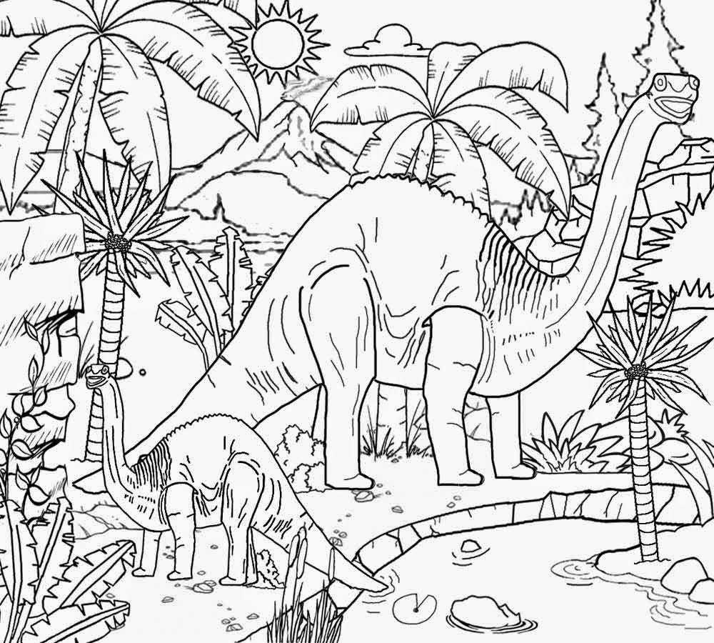 dinosaur landscape coloring page free coloring pages printable pictures to color kids landscape dinosaur page coloring