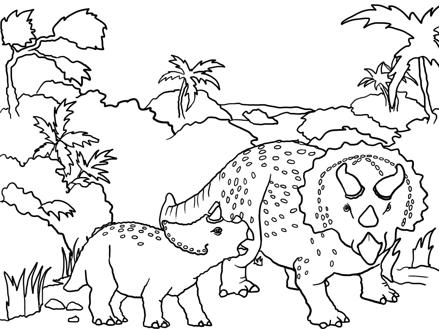 dinosaur landscape coloring page free coloring pages printable pictures to color kids landscape page coloring dinosaur