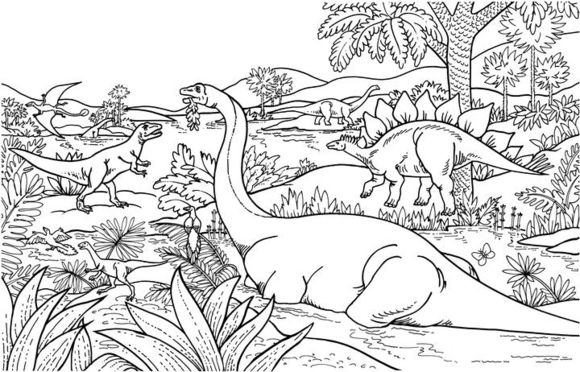 dinosaur landscape coloring page free coloring pages printable pictures to color kids page landscape coloring dinosaur