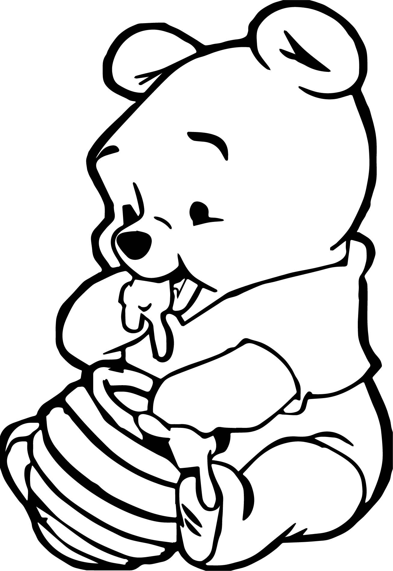 disney cute easy coloring pages cute baby winnie the pooh eating hunny coloring page easy disney coloring pages cute