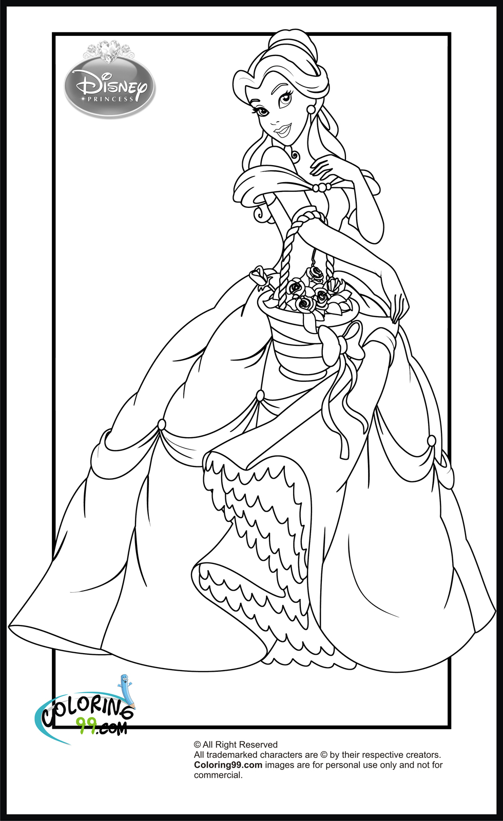 disney free colouring pages free printable belle coloring pages for kids pages disney free colouring