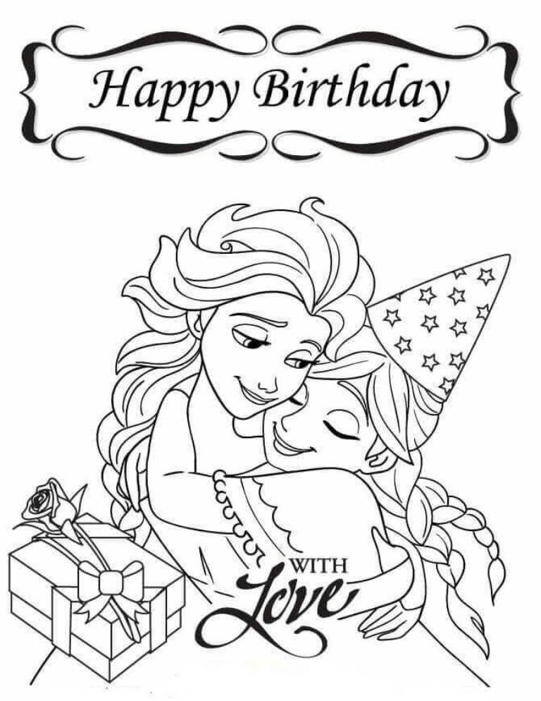 disney happy birthday coloring pages disney ariel happy birthday free6115 coloring pages printable happy coloring birthday pages disney
