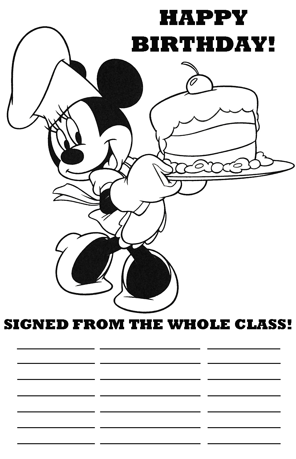 disney happy birthday coloring pages happy birthday drawing pictures at getdrawings free download happy coloring disney pages birthday