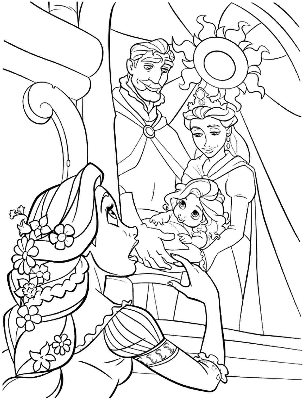 disney rapunzel pictures to color amazing hair of rapunzel coloring page kids play color disney color rapunzel pictures to