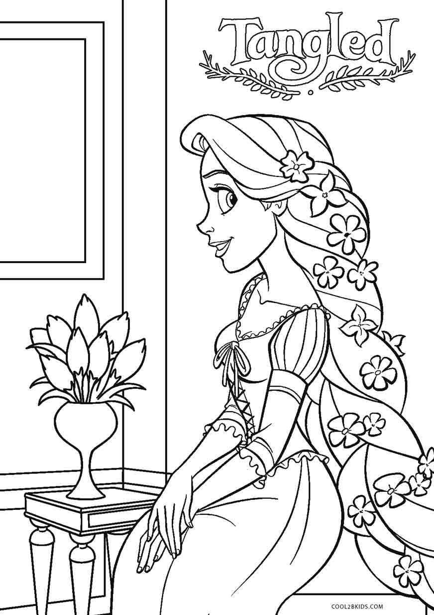 disney rapunzel pictures to color free printable tangled coloring pages for kids cool2bkids rapunzel disney color to pictures