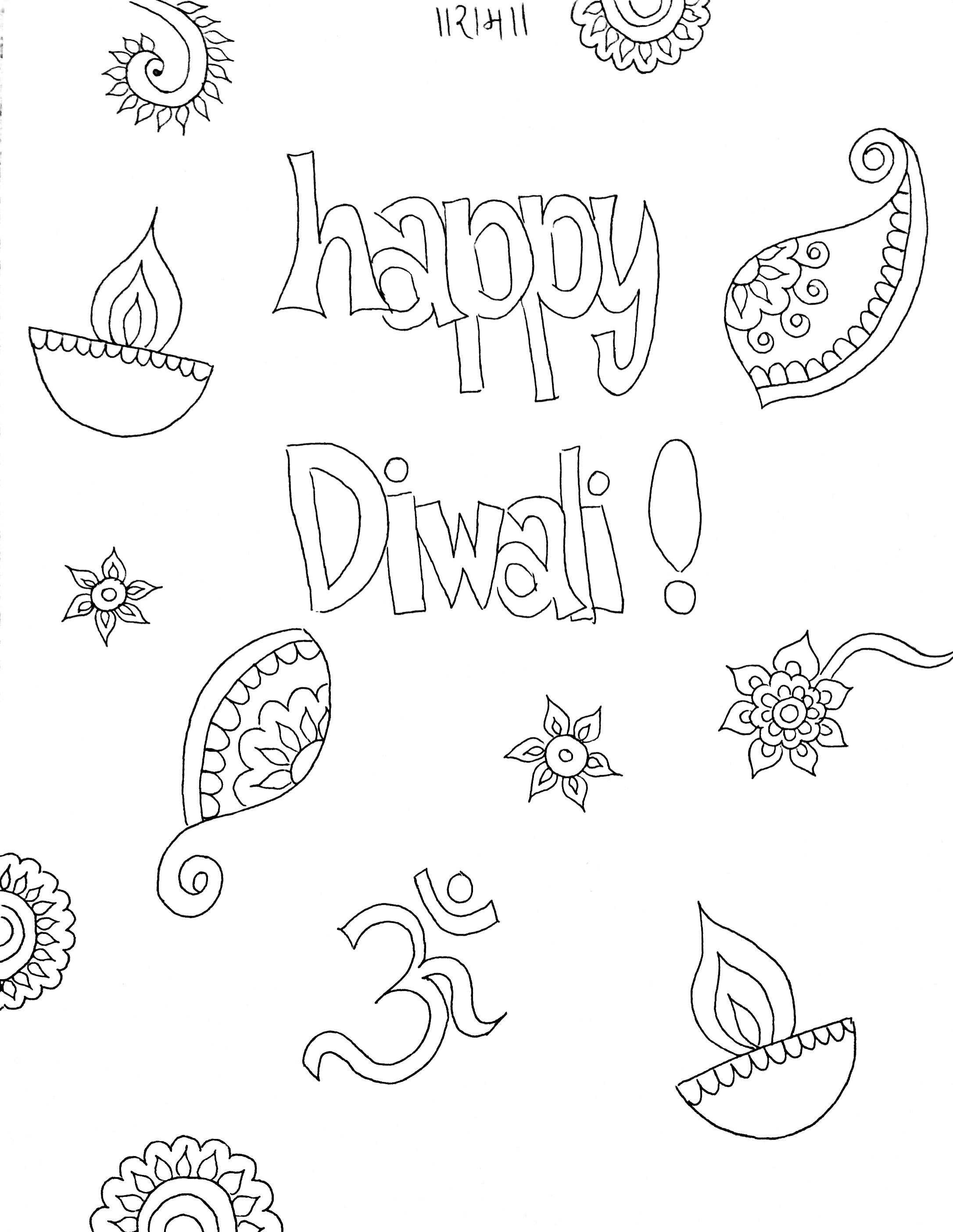 diwali outline pictures diwali coloring pages pitara kids network outline diwali pictures