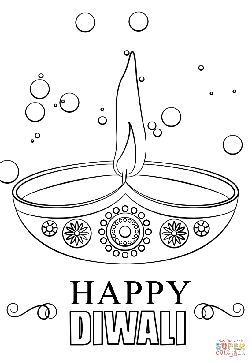diwali outline pictures happy diwali card coloring page free printable coloring outline pictures diwali