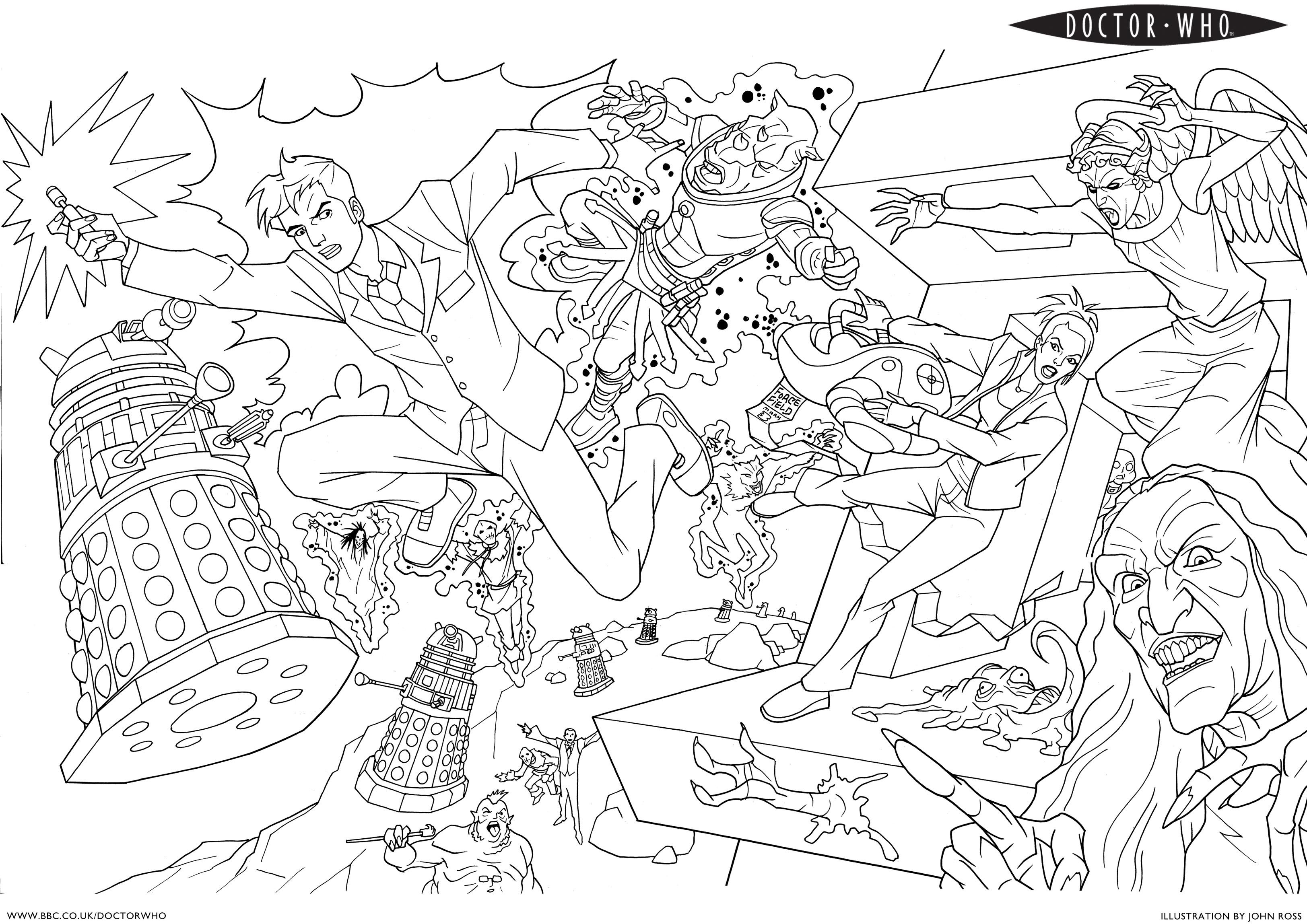 doctor who pictures to colour character from doctor who coloring pages free printable colour pictures to doctor who
