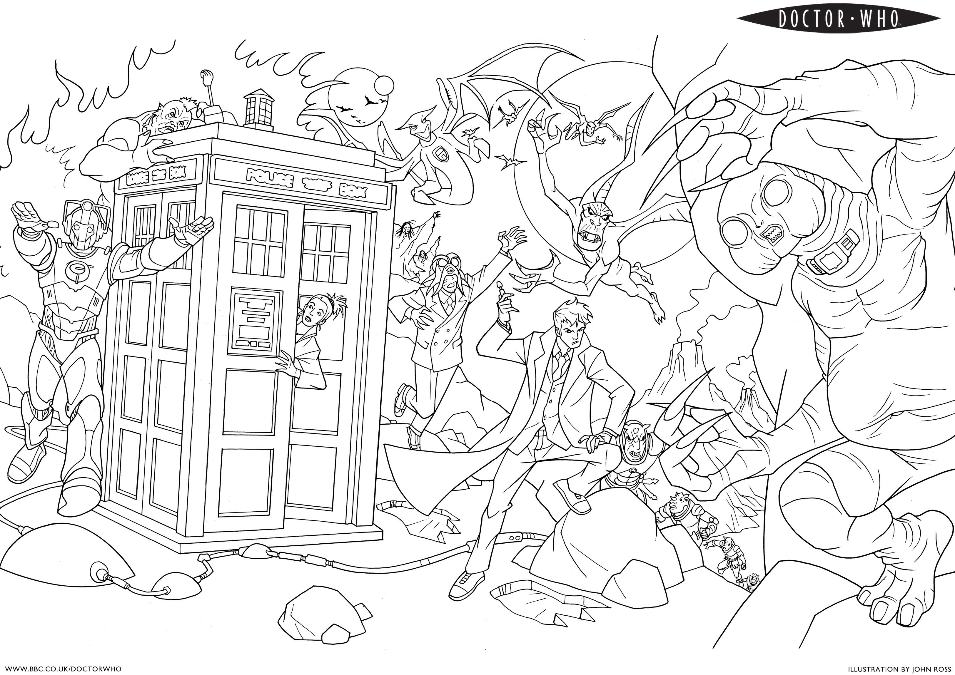 doctor who pictures to colour doctor who tardis coloring pages coloring books who doctor colour pictures to