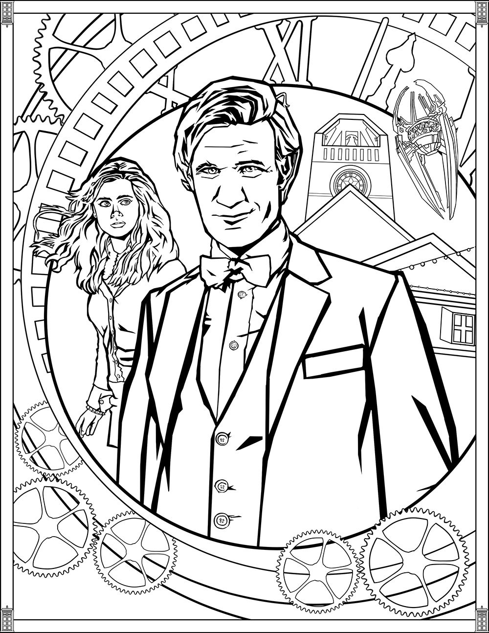 doctor who pictures to colour doctor who wibbly wobbly timey wimey coloring pages to pictures who colour doctor