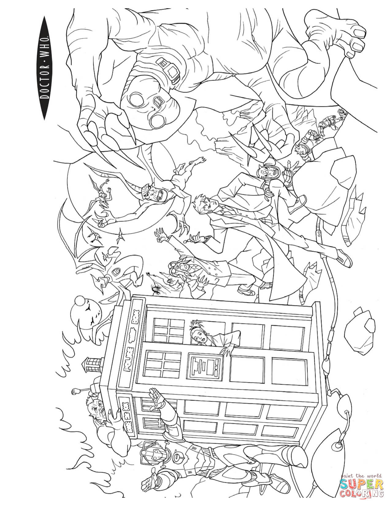 doctor who pictures to colour doctor who39s world tv shows adult coloring pages colour to who pictures doctor
