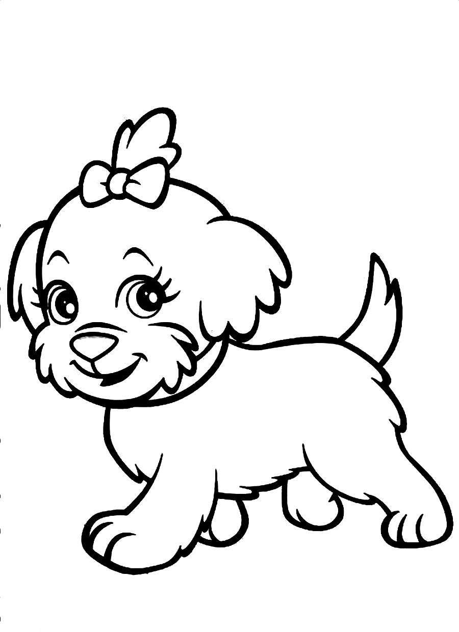 dog color page cute dog coloring pages to download and print for free color page dog