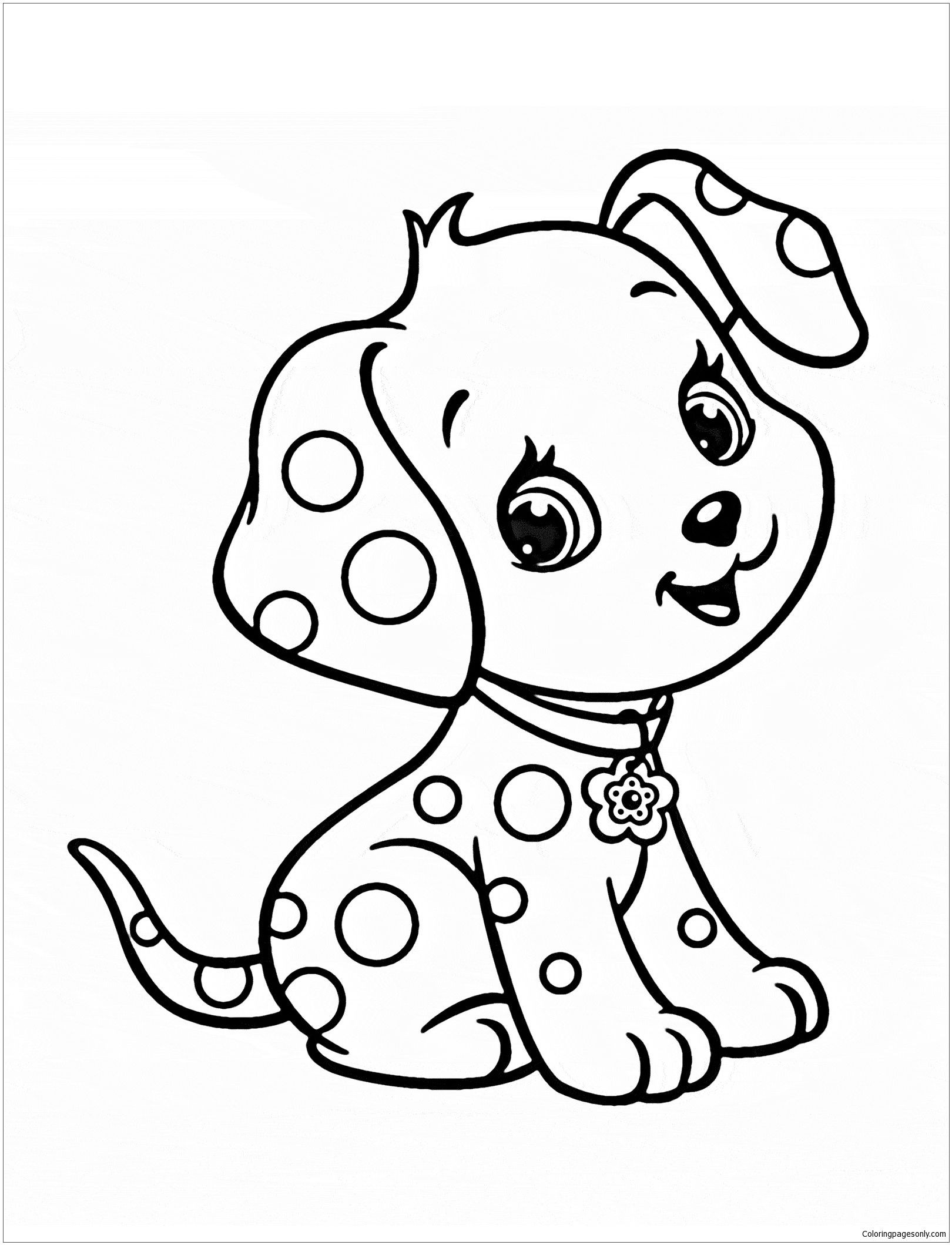 dog colouring in free printable puppies coloring pages for kids colouring in dog