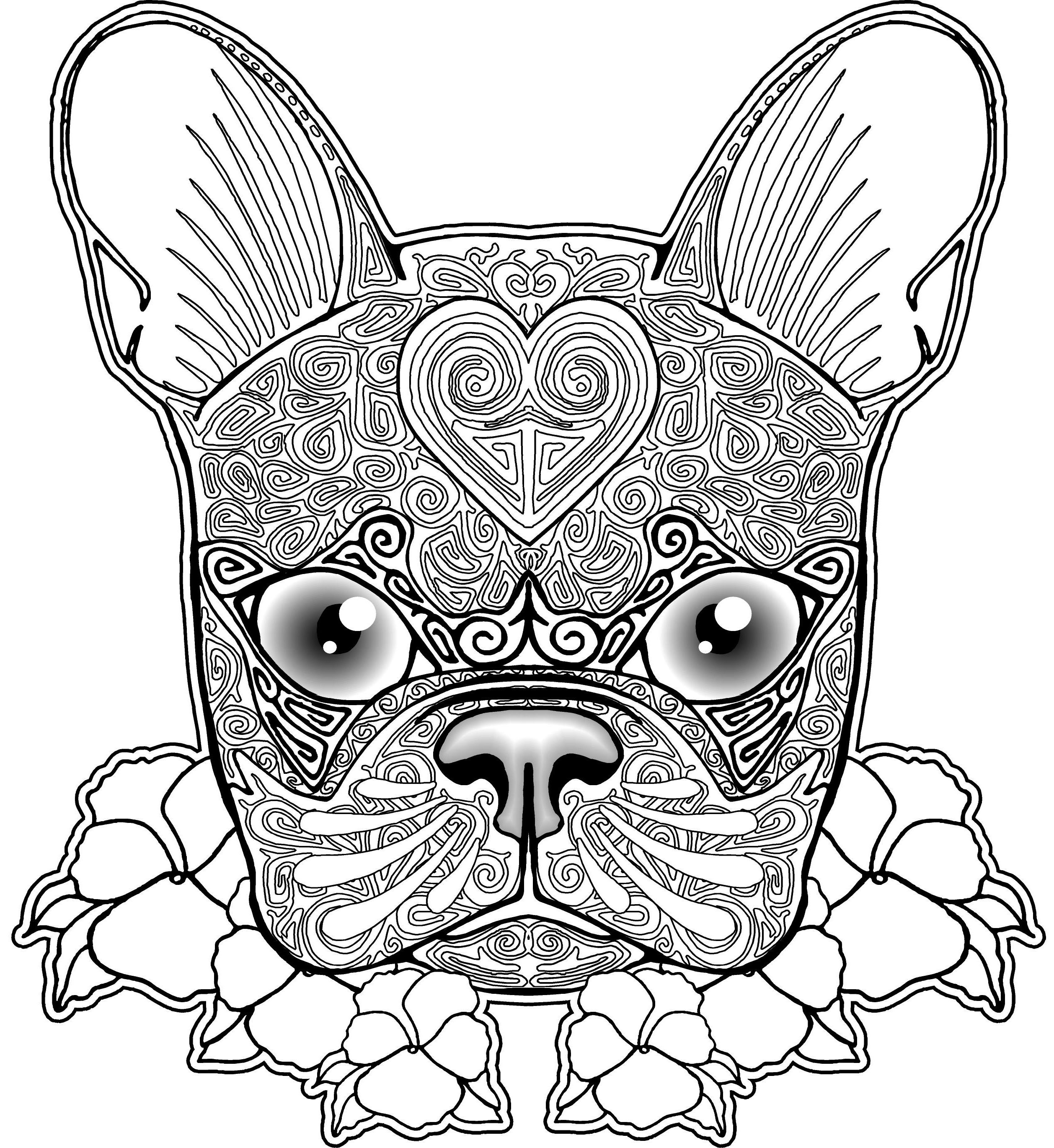 dog colouring in pug coloring pages to download and print for free colouring dog in