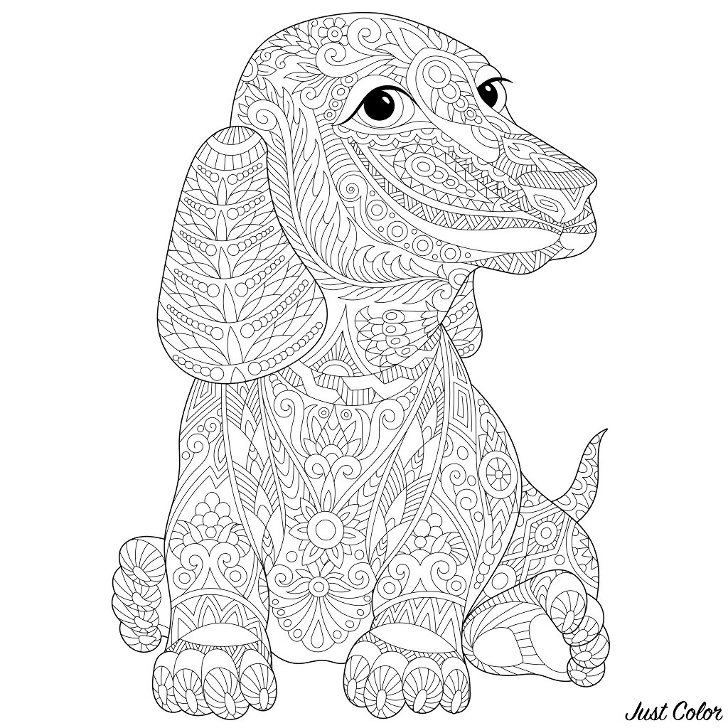 dog colouring in sitting dog drawing free download on clipartmag dog colouring in