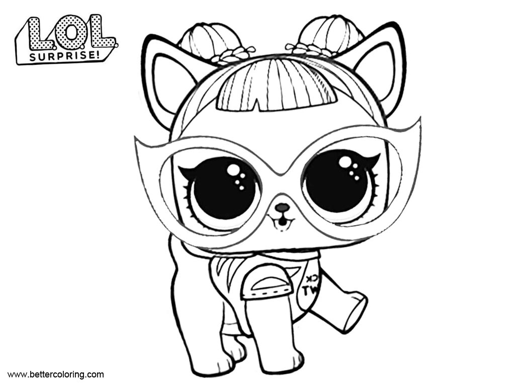 dog lol pets coloring pages lol doll pet dog with a crown coloring pages for you pets dog coloring lol pages