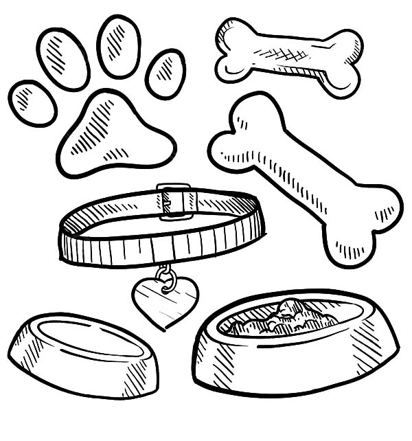 dog with bone coloring page dog bone coloring page at getdrawings free download coloring with dog page bone