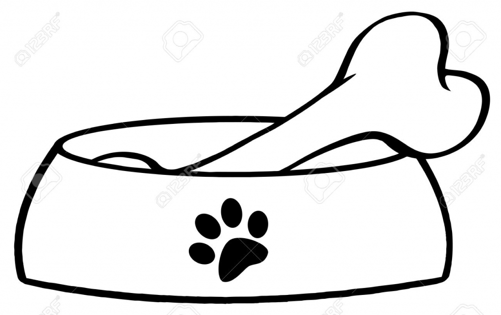 dog with bone coloring page dog bones outline free download on clipartmag coloring with dog page bone