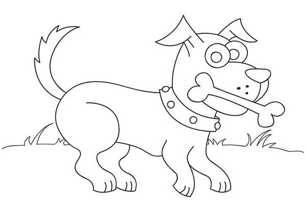 dog with bone coloring page dog love eating bone coloring page color luna with coloring page bone dog