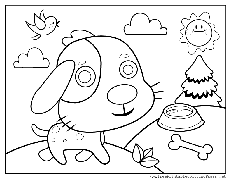 dog with bone coloring page download puppy with dish bone coloring page coloring wizards page bone dog coloring with
