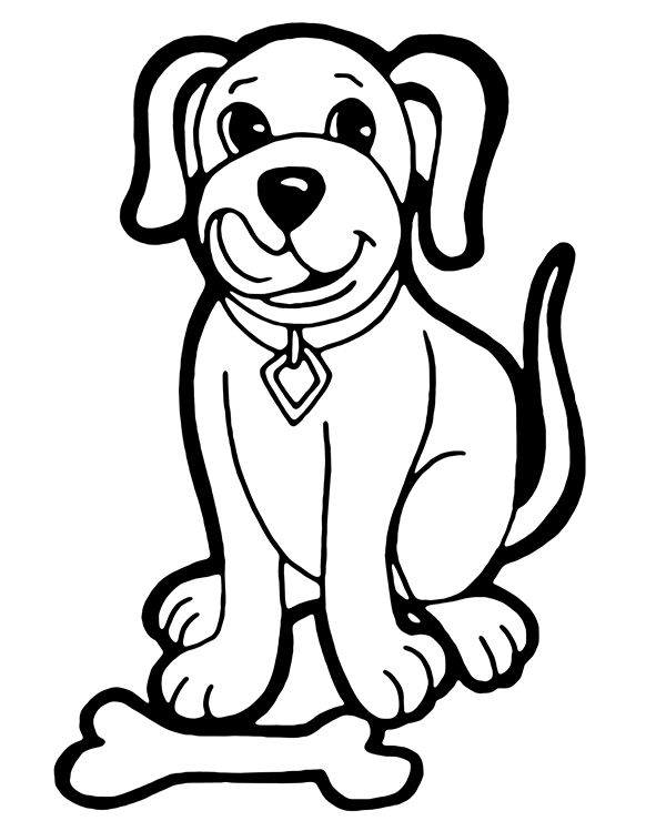 dog with bone coloring page free coloring page dog with a bone bone dog coloring with page
