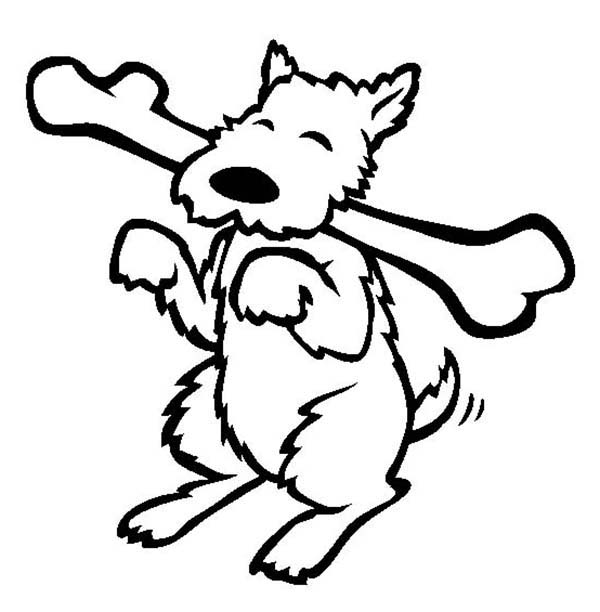 dog with bone coloring page happy dog eating long bone coloring page color luna dog coloring page with bone