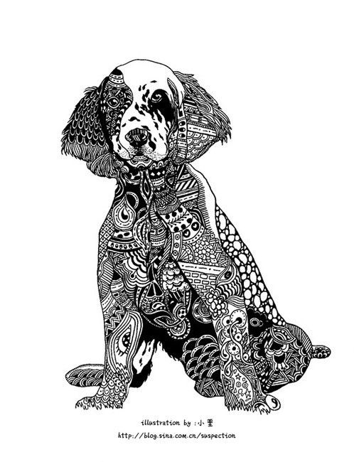 dog zentangle coloring pages 轻博客 正文页 dog coloring page zentangle animals dog art coloring dog zentangle pages