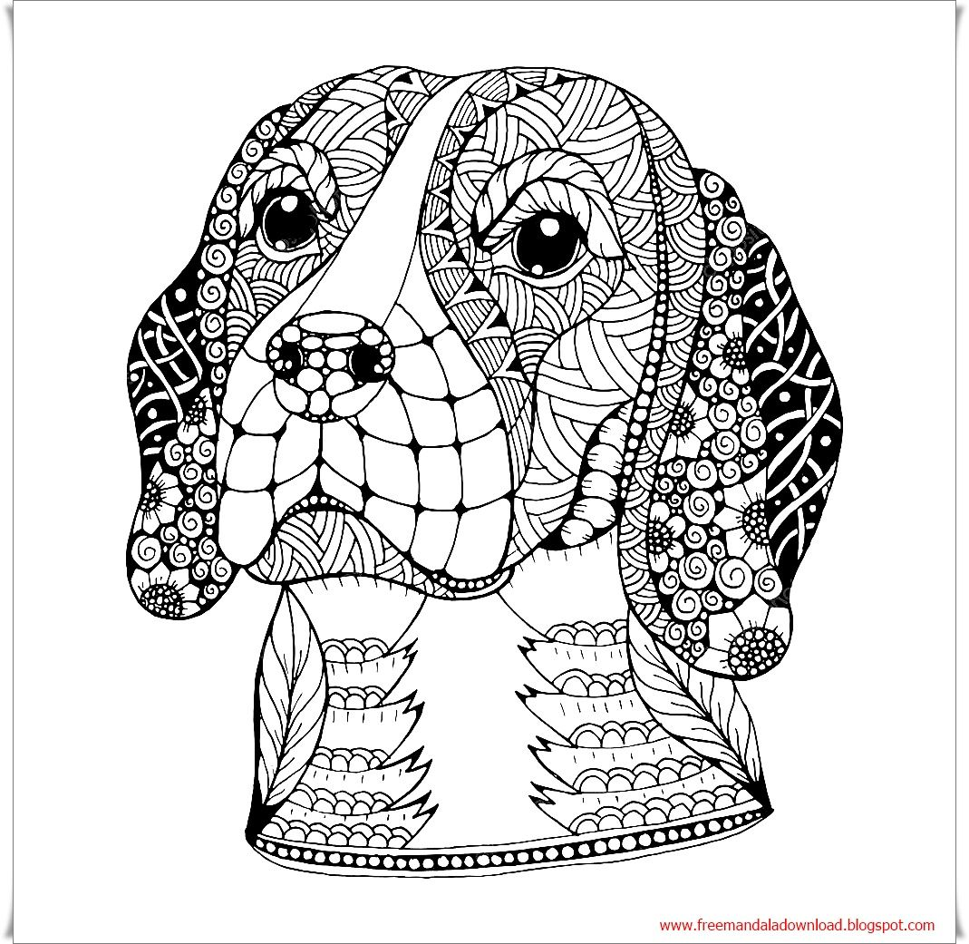 dog zentangle coloring pages dog head zentangle dog mandala free free mandala dog zentangle coloring dog pages