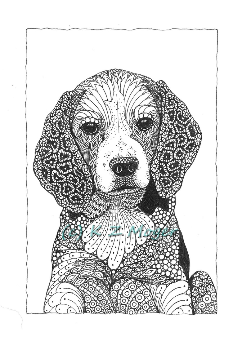 dog zentangle coloring pages dog portraits dogs and zentangle on pinterest pages dog coloring zentangle