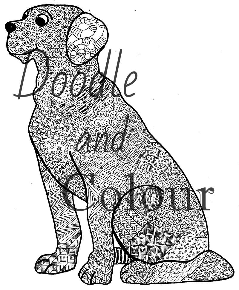 dog zentangle coloring pages dog zen doodle adult colouring page zentangle style art coloring zentangle pages dog