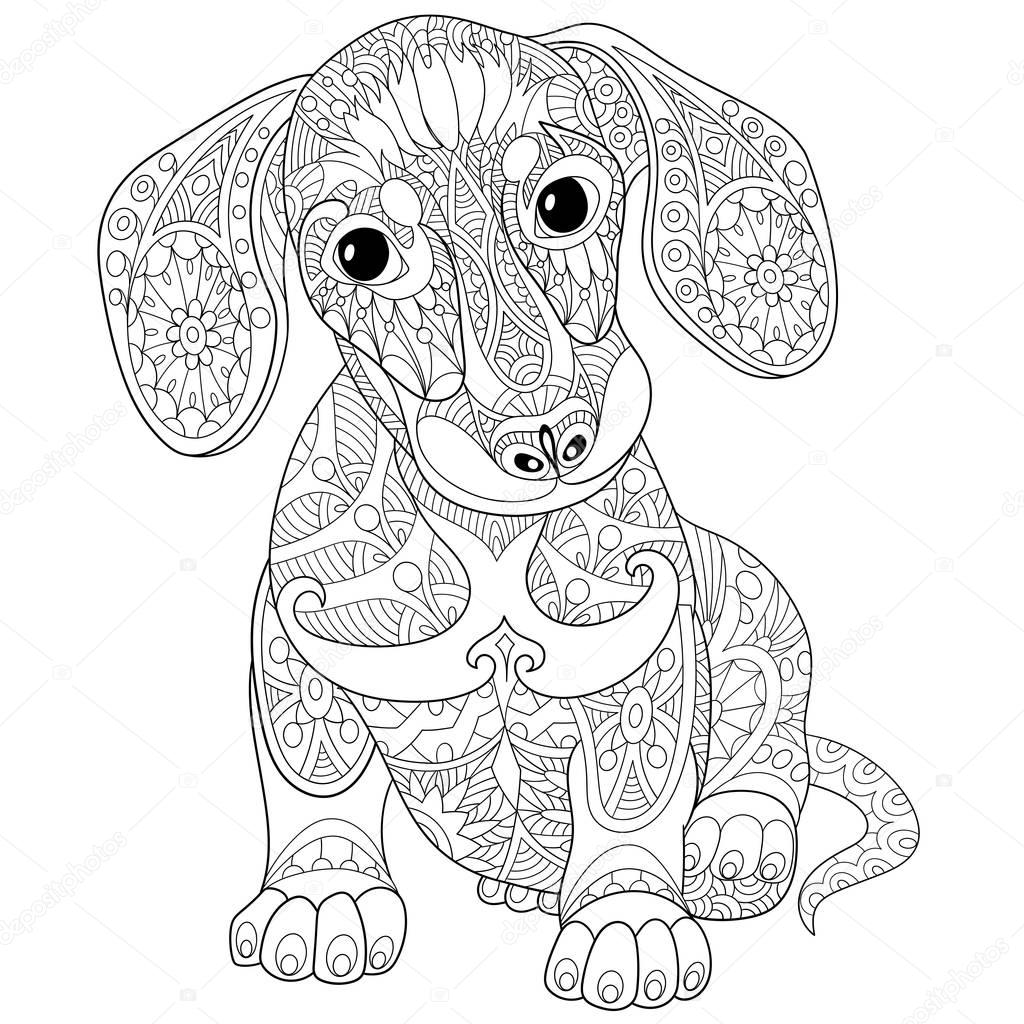 dog zentangle coloring pages pug dog zentangle coloring page free printable coloring zentangle dog pages coloring