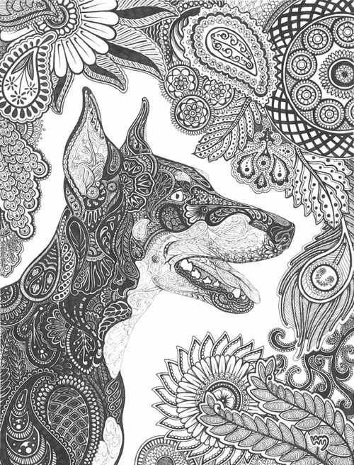 dog zentangle coloring pages zentangle dog adult colouringcatsdogs zentangles zentangle coloring pages dog