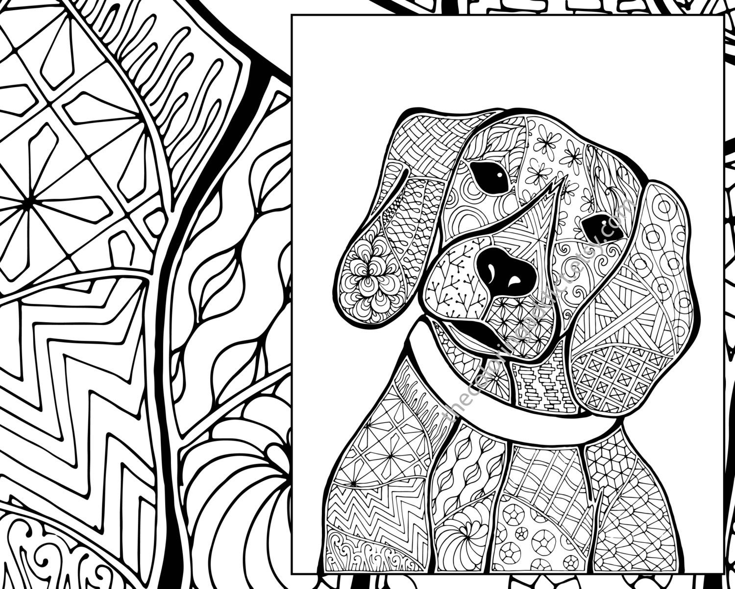 dog zentangle coloring pages zentangle dog coloring pages getcoloringpagesorg coloring dog zentangle pages