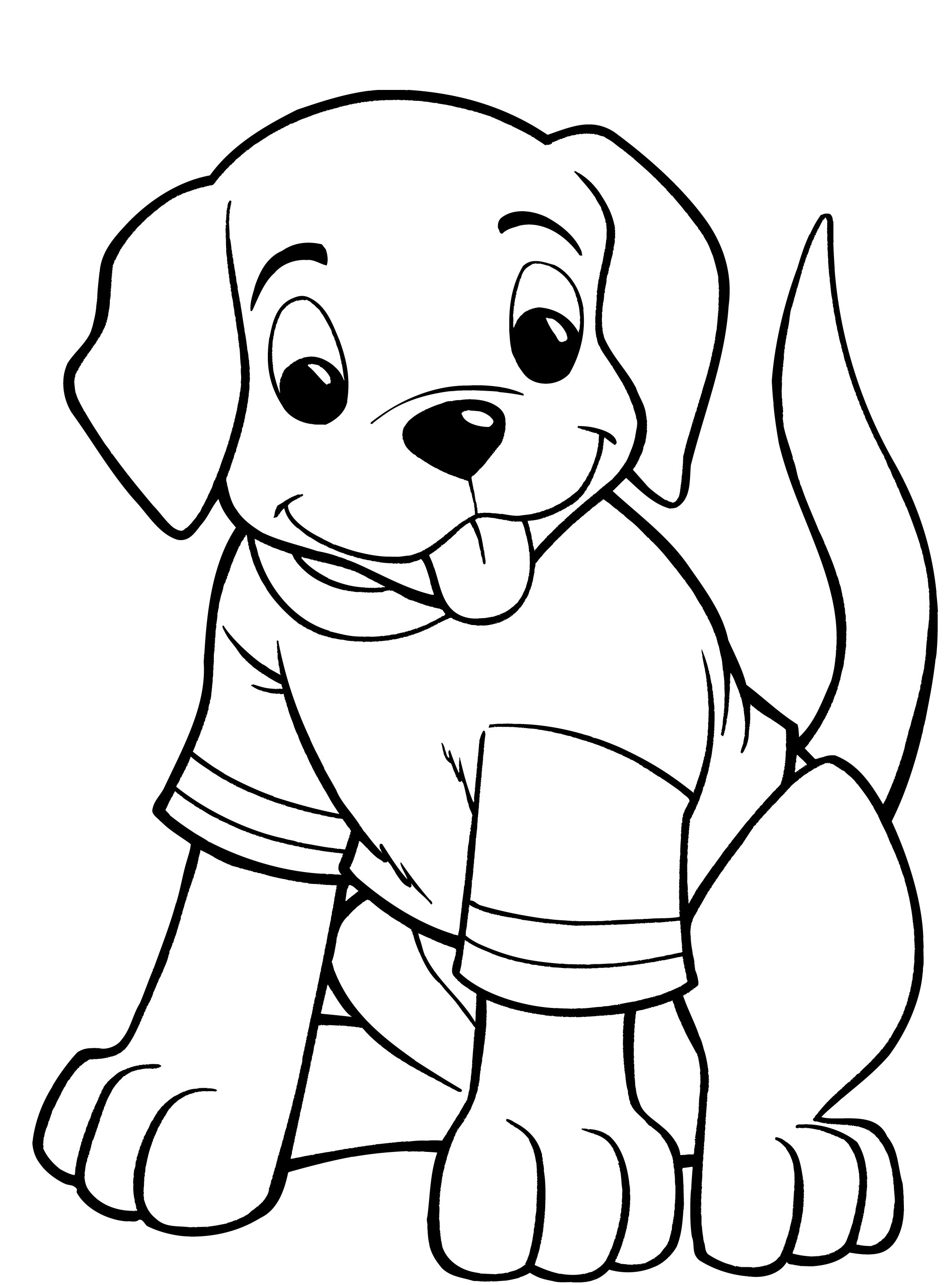 dogs coloring pictures sad puppy coloring pages at getcoloringscom free dogs coloring pictures