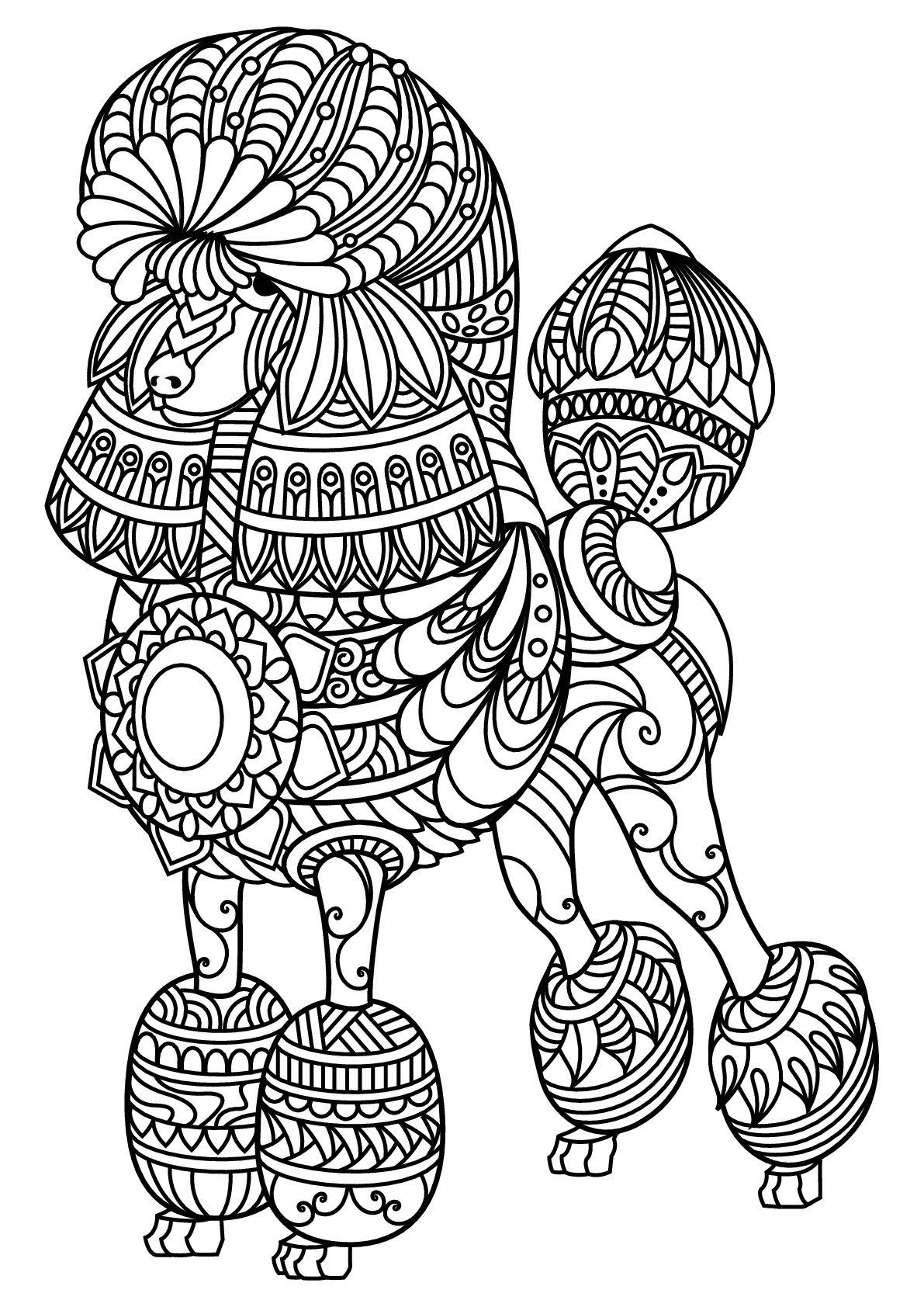 dogs to colour in and print free book dog poodle dogs adult coloring pages colour in print dogs to and