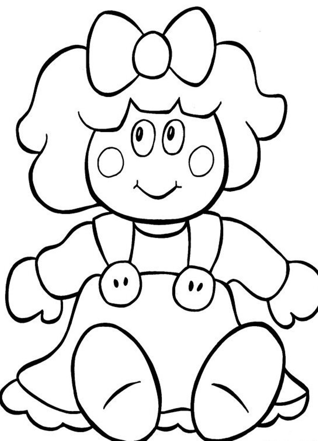 dolls coloring pages doll coloring pages to download and print for free pages dolls coloring