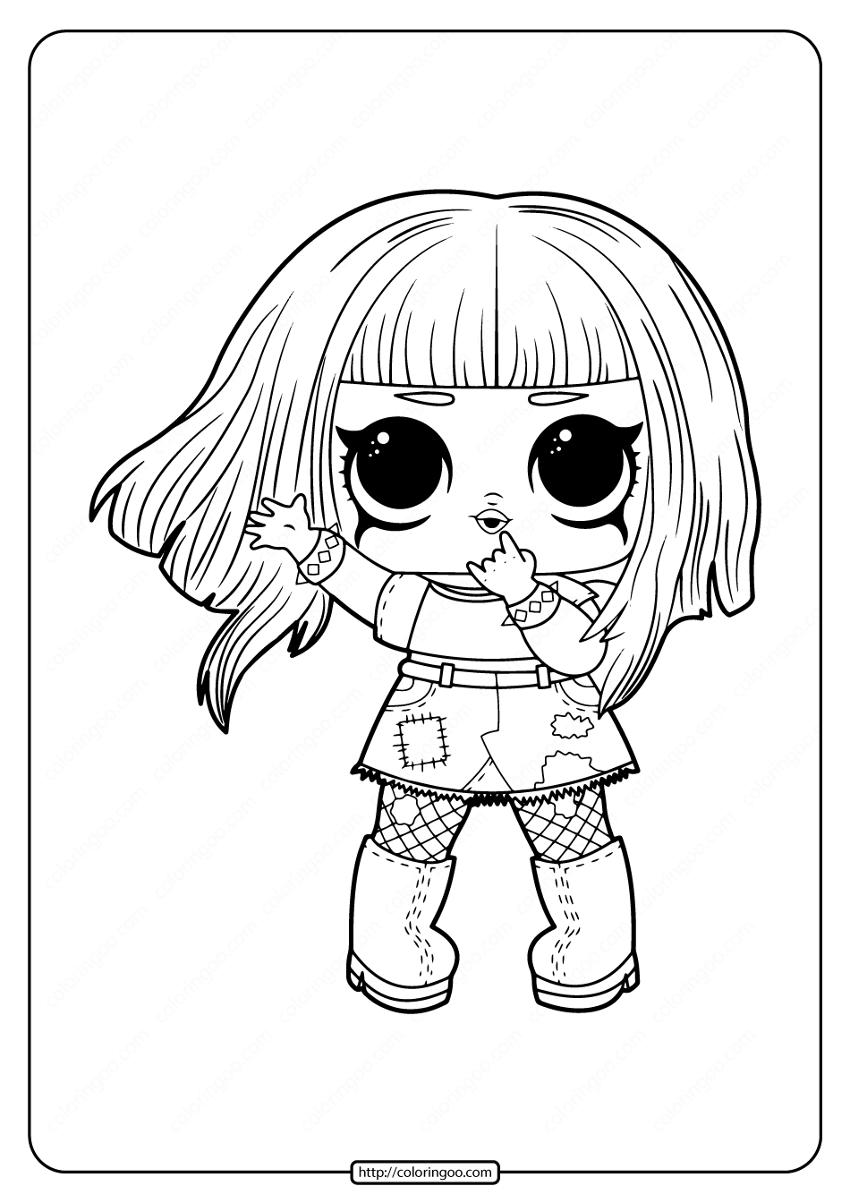 dolls coloring pages mc swag lol doll coloring page free printable coloring pages dolls coloring