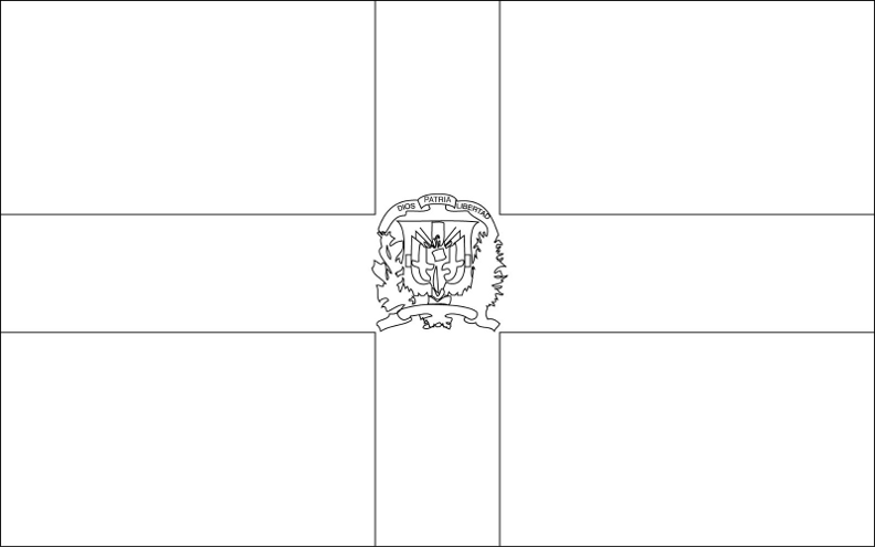 dominican republic flag coloring page dominican republic flag coloring page free printable page republic coloring flag dominican