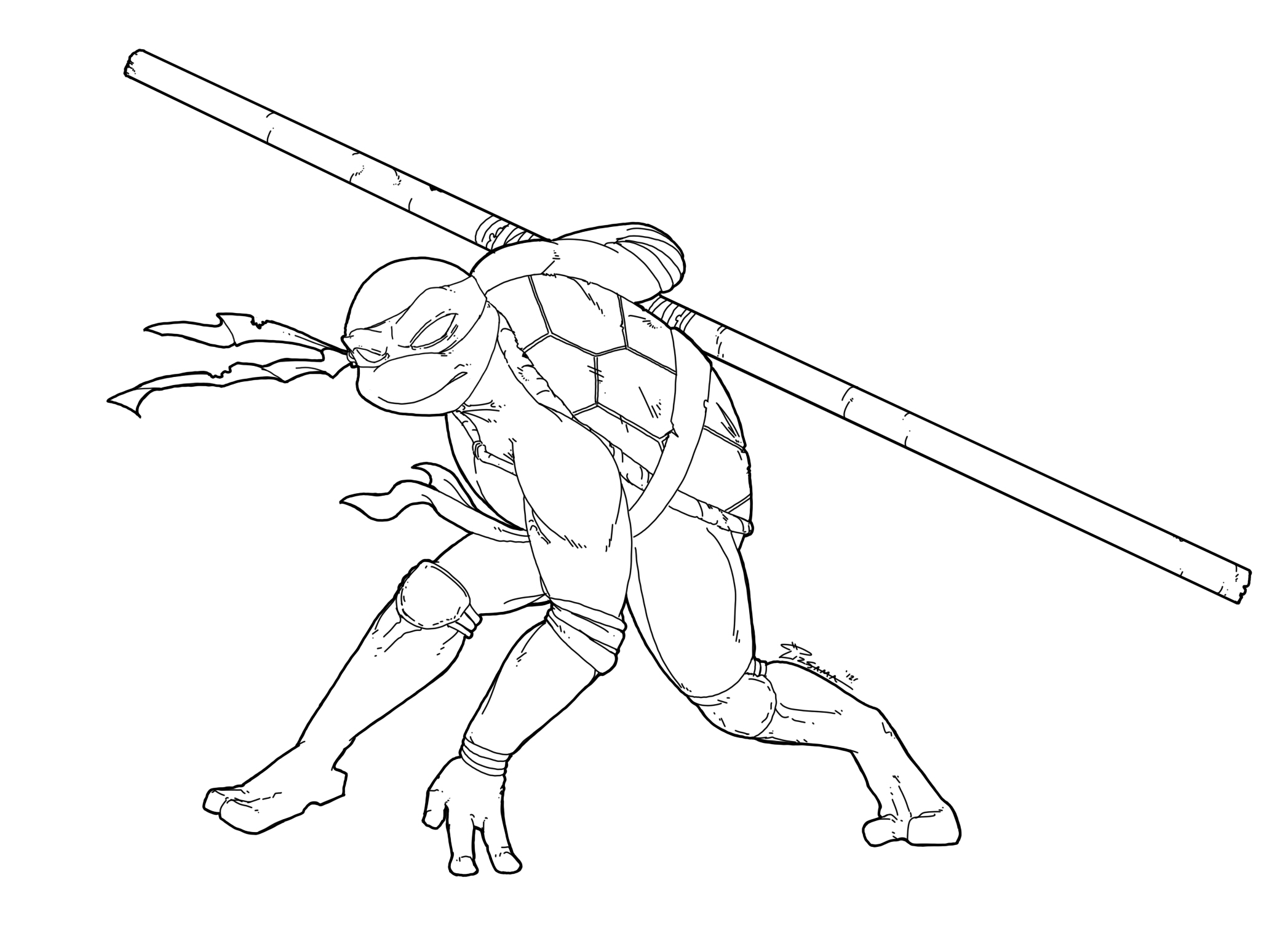 donatello ninja turtle coloring page not really daily sketch tmnt donatello by skypiratedash donatello page ninja coloring turtle
