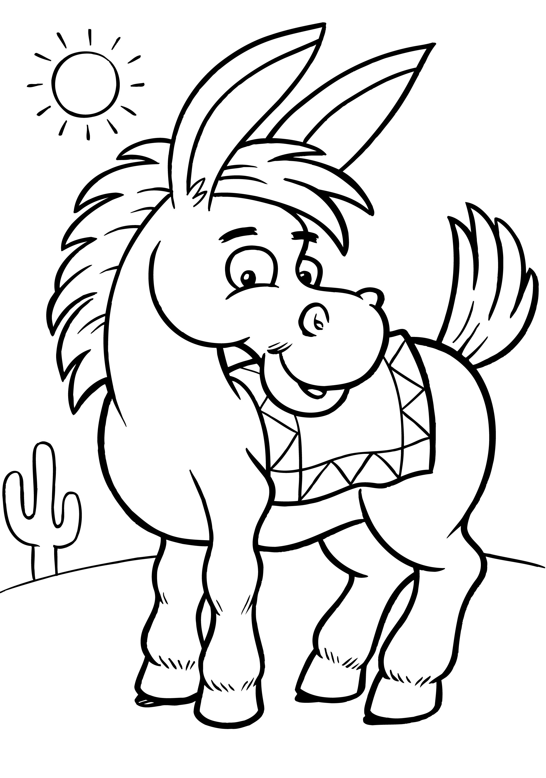 donkey pictures to print donkey coloring pages for kids preschool and kindergarten pictures donkey to print