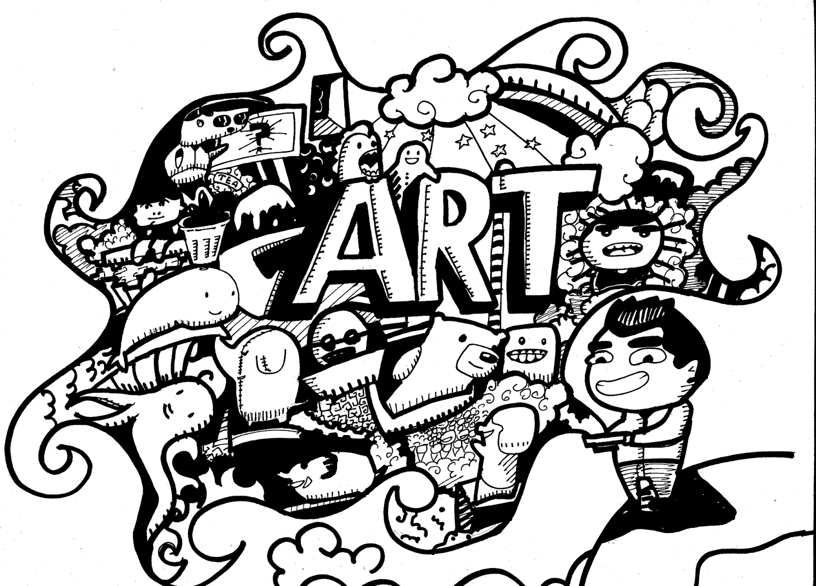 doodle art 40 amazing examples of animal doodle art to try art doodle