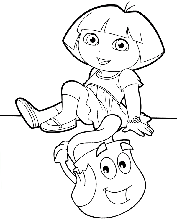 dora backpack coloring page dora and backpack ptintable coloring sheet page page backpack dora coloring